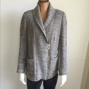 Tweed Wool Cardigan by Worth